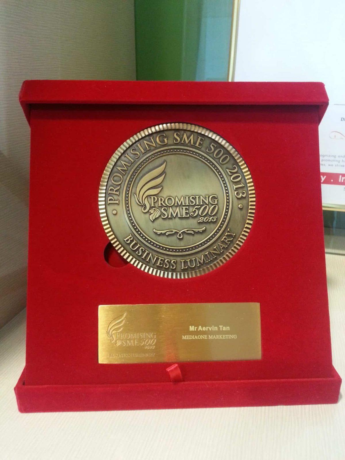 Proud Recipient of Promising SME 500 Award