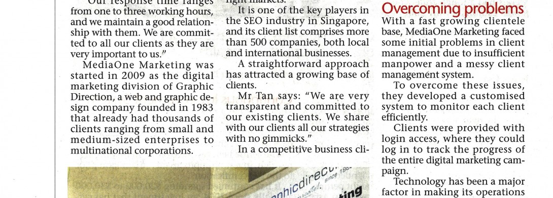 We had been featured in The Sunday Times on 8th September 2013!