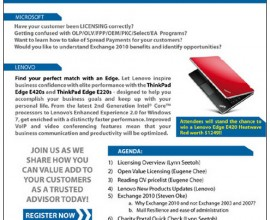 Microsoft-Lenovo Bootcamp Flyer Design