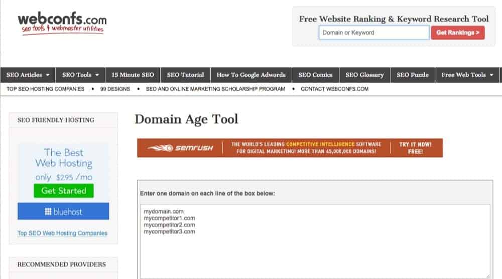 best domain age checking tool online free