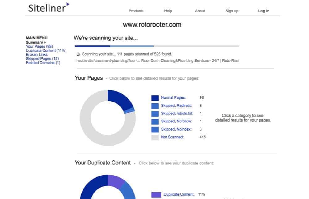 siteliner seo tool