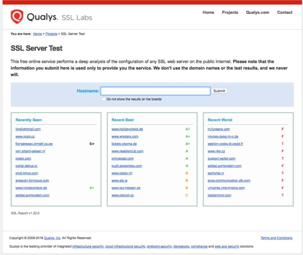 tool to check validity of SSL secure socket layer