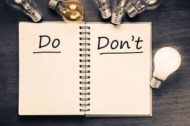 Google: The DOs and DON'Ts