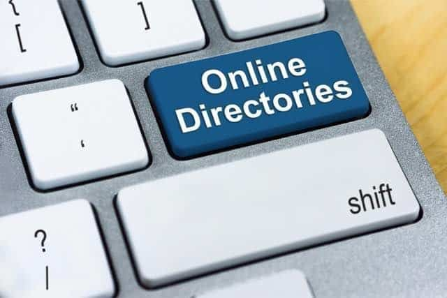 get listed in local directories which is important for citation