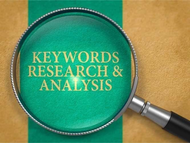 keyword analysis on your industry search terms is crucial