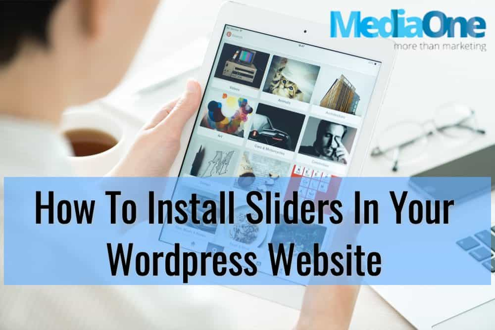 install sliders wordpress website singapore