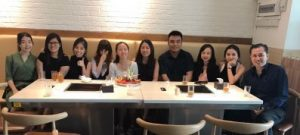 digital marketing team out for a short lunch to celebrate birthday