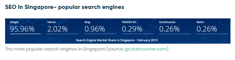 popular search engines in Singapore