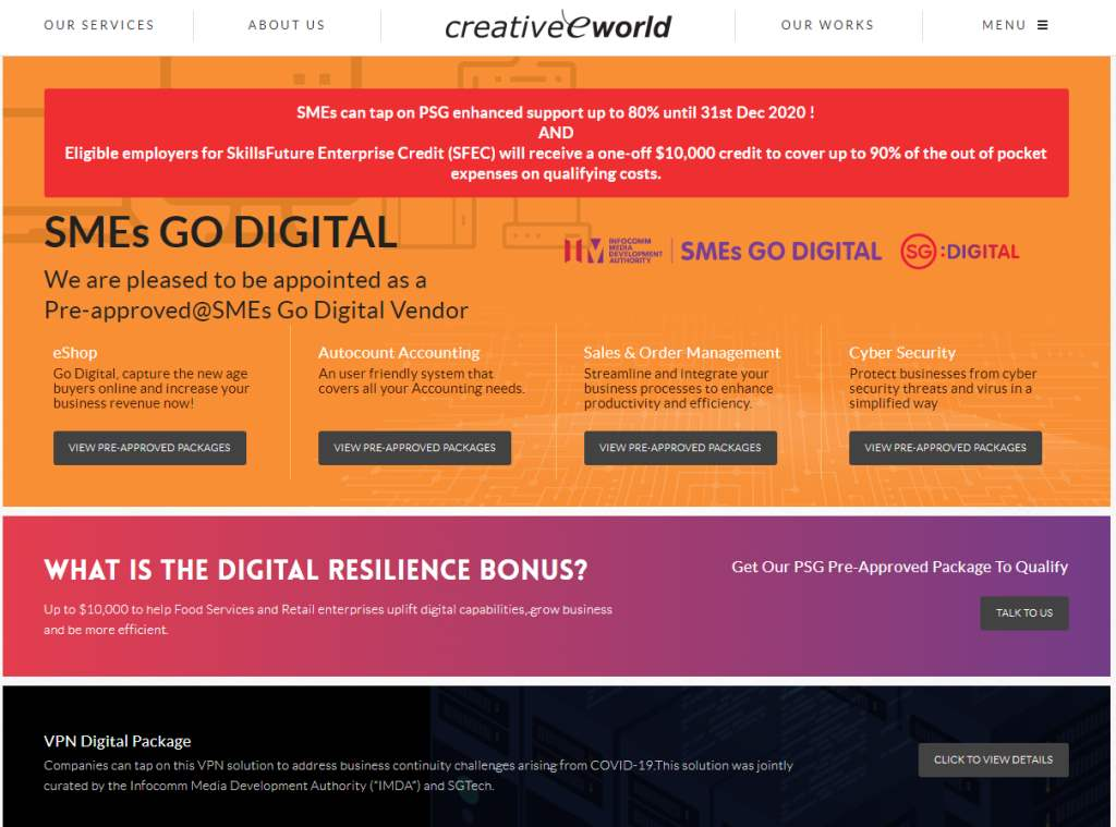 Creaworld The Top Web Development Companies In Singapore