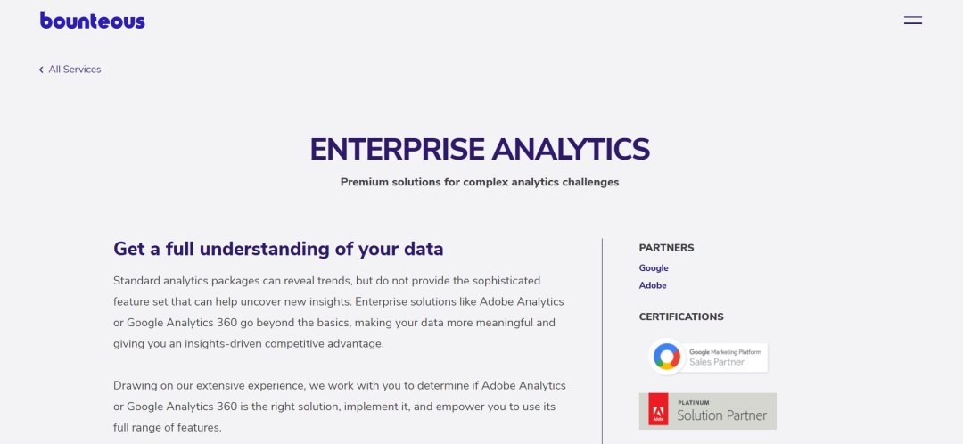Bounteous Analytics Tools