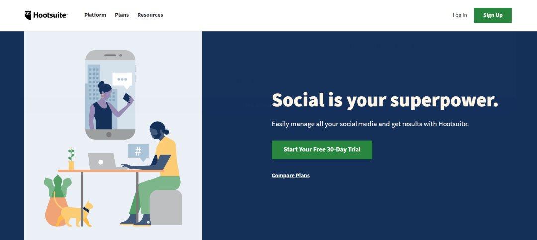 Hootsuite Social Media Marketing Tools