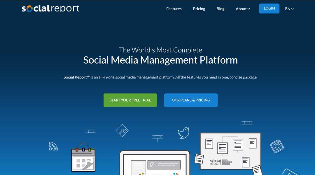 Social Report Social Media Marketing Tools