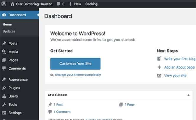 customising your wordpress