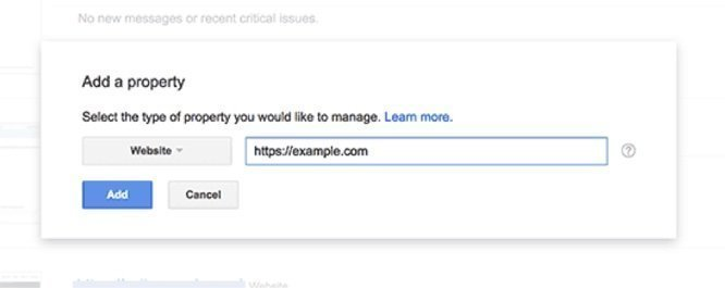managing new website with https to google search console