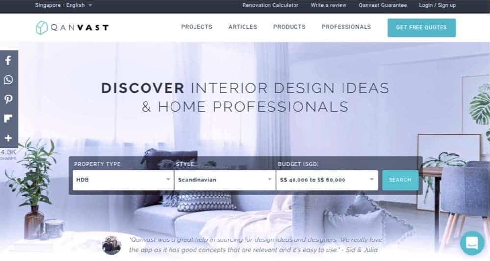 beautiful home and interior design firm website example