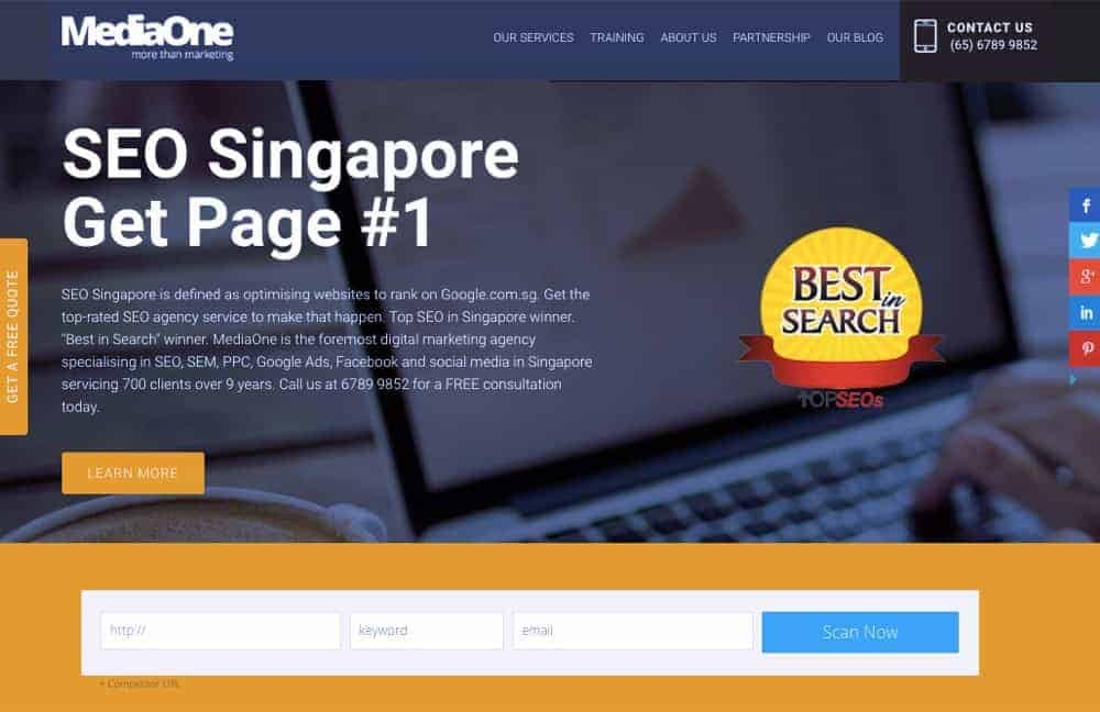 digital marketing website design singapore