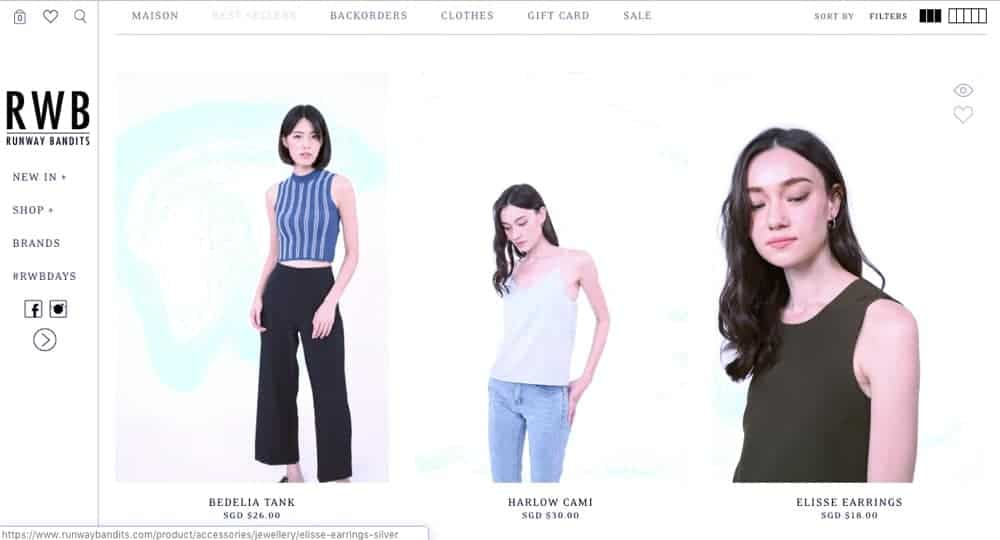 inspiration fashion ecommerce website concept
