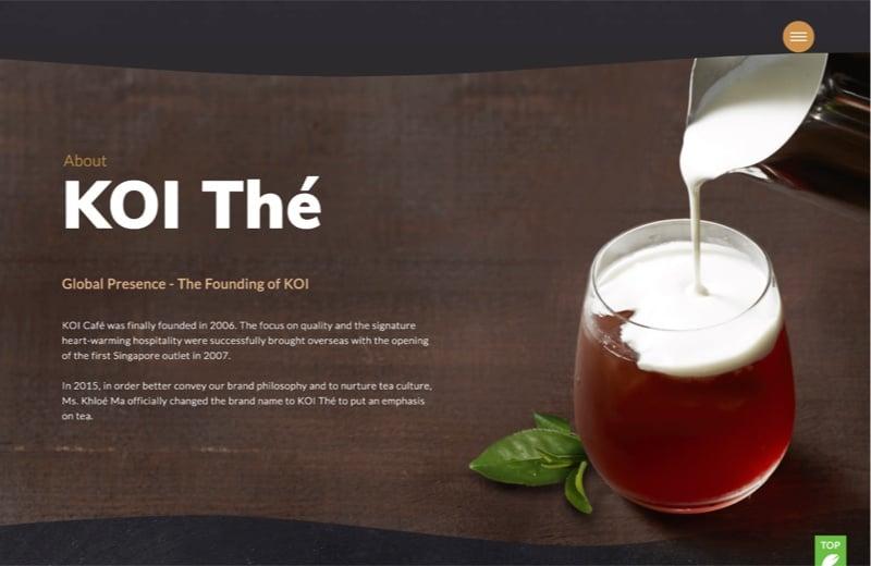 koi website design visuals