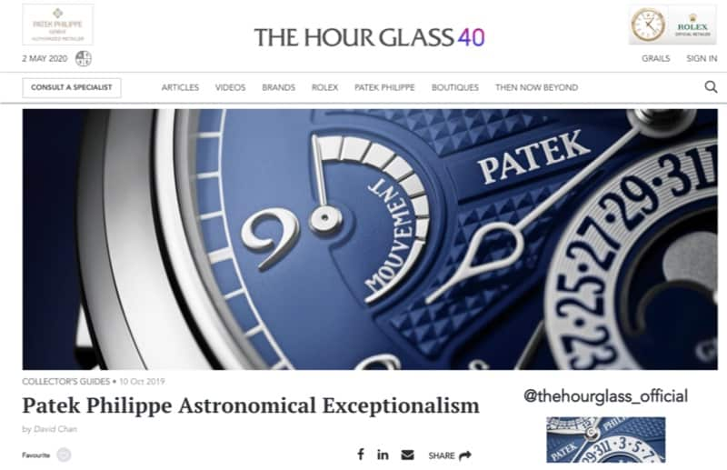 minimalistic website design thehourglass