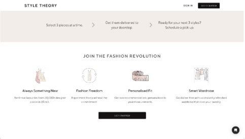 style theory web design tips for fashion sites