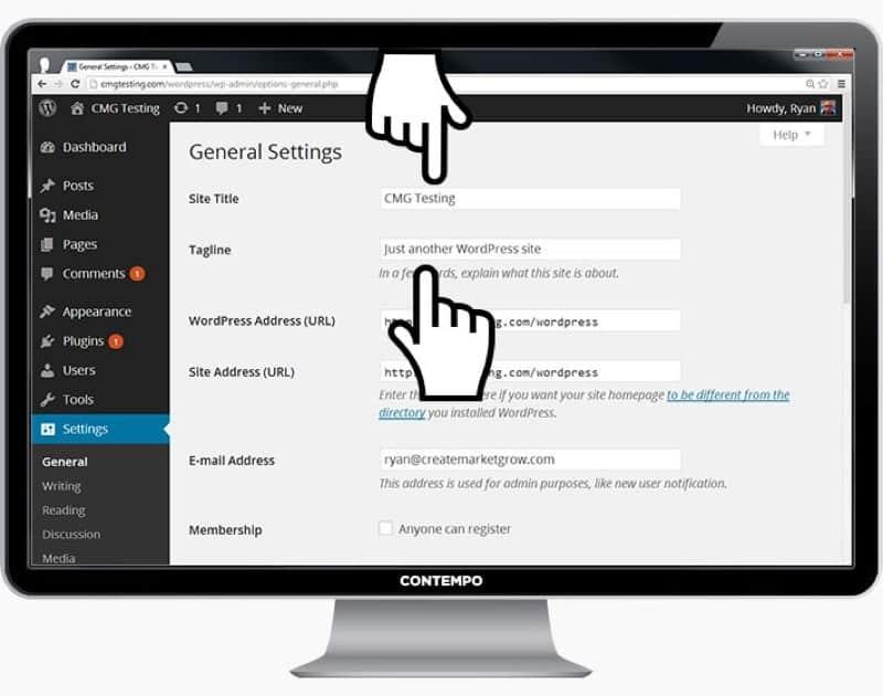 corporate website with wordpress