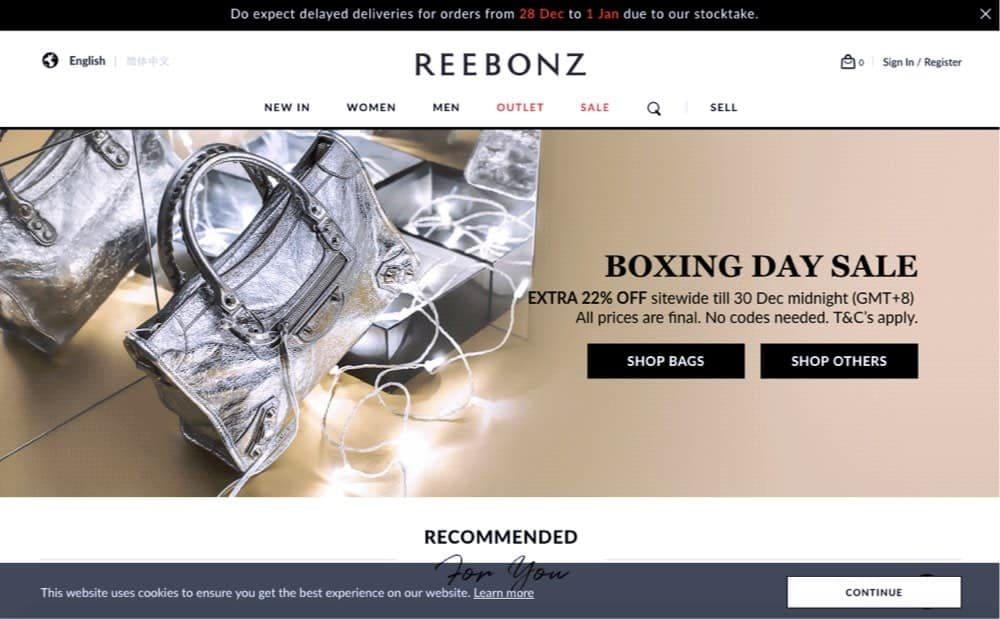 fashion and accessories e-store concept singapore