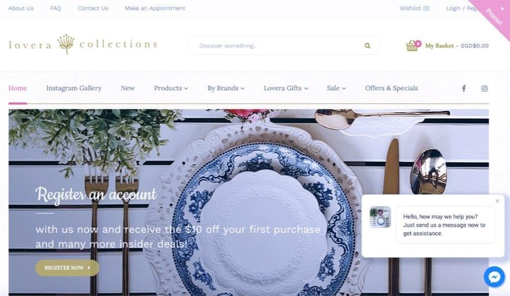 home decor e-commerce shop concept singapore