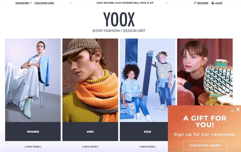 online fashion e-commerce webstore singapore