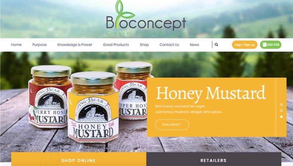 organic foods e-commerce website singapore
