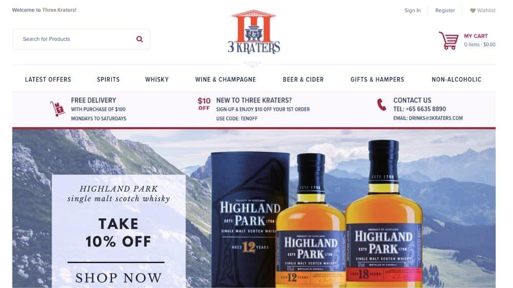 wine and spirits e-commerce store singapore