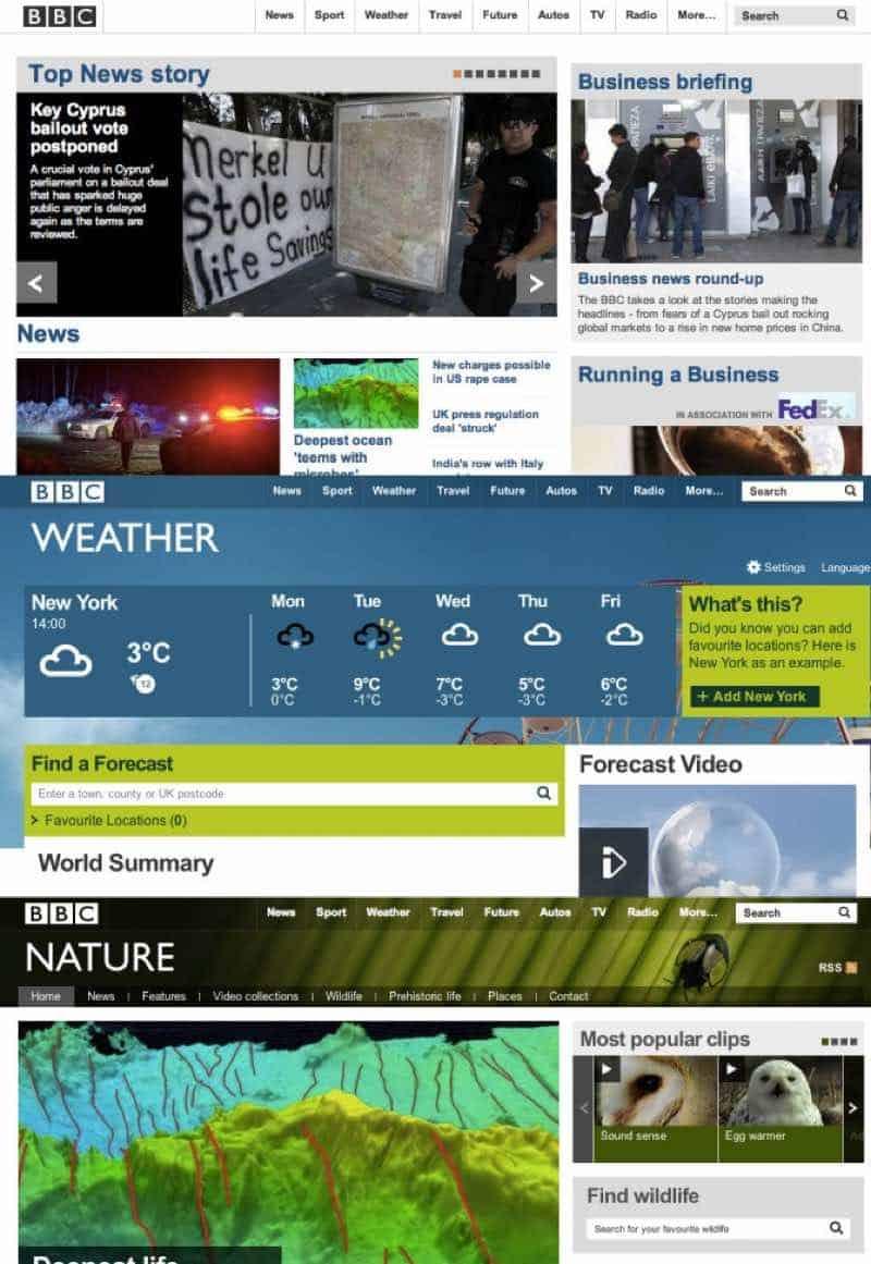 easy navigation in website