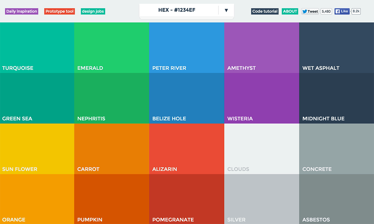 website colour schemes