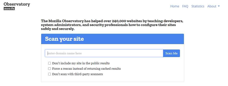 observatory Online Web Security