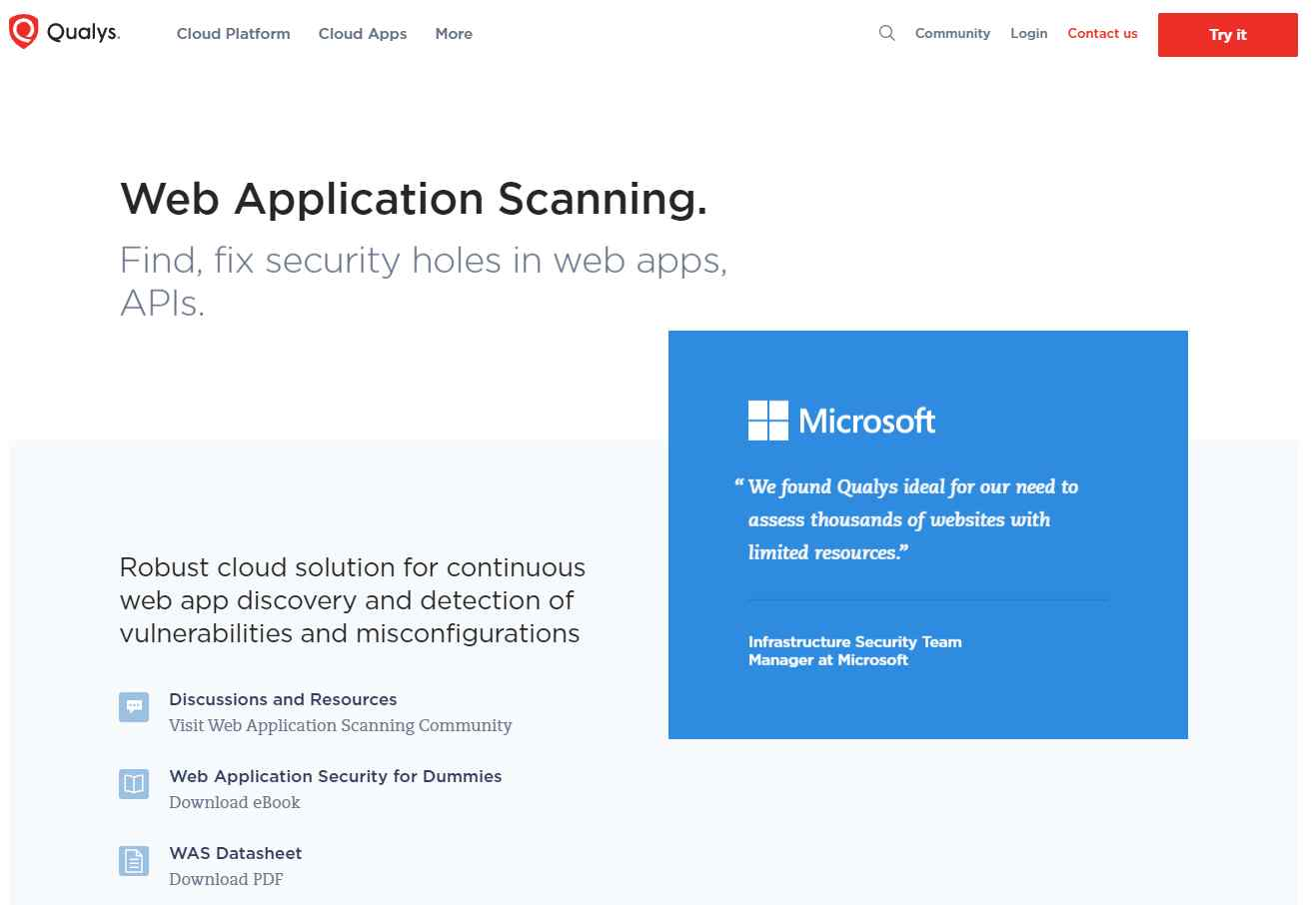 qualys Online Web Security
