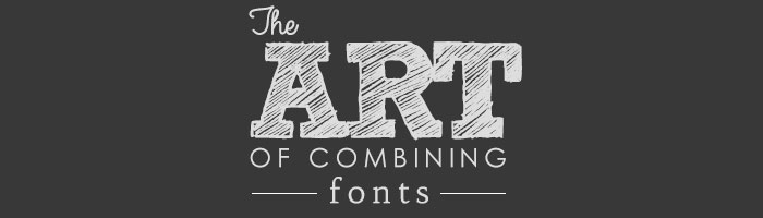 combining typefaces fonts