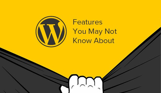 WordPress hidden features