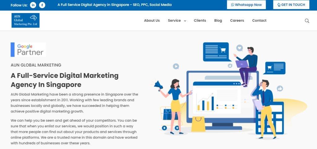 AUN Singapore's Top Full Service Web Agencies