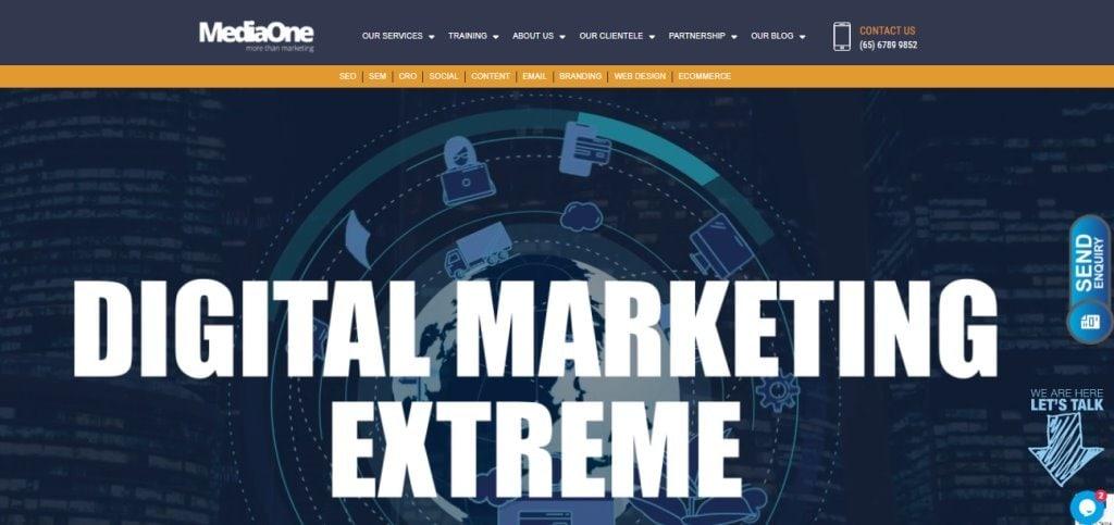 MediaOne Singapore's Top Full Service Web Agencies