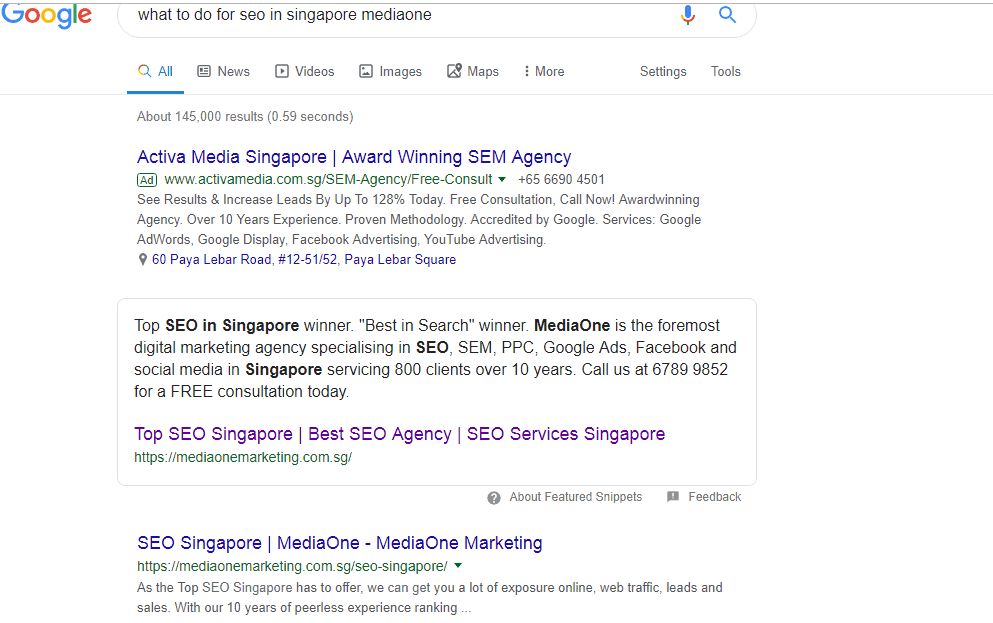 SEO in Singapore