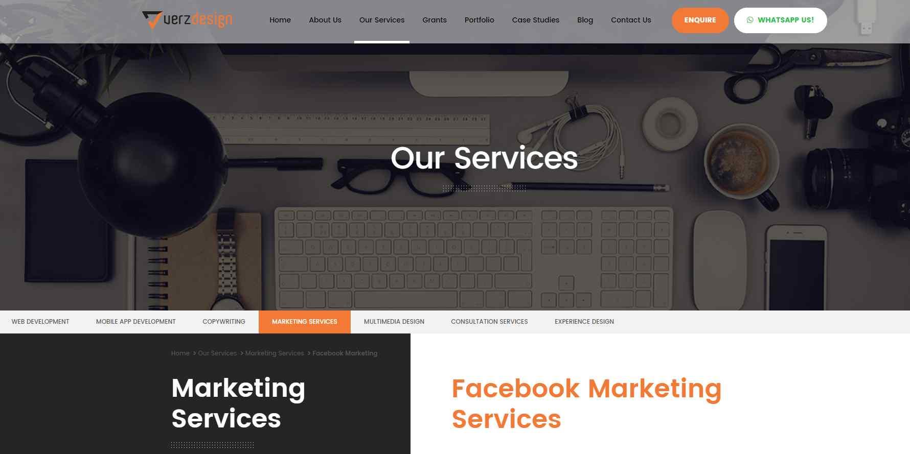 verz design 15 Top Facebook Marketing Agencies in Singapore