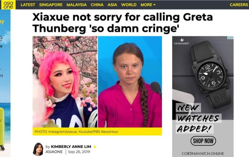xiaxue article on greta thunberg 2019