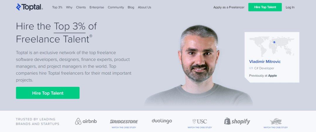 Toptal 33 Websites to Hire a Freelance Designer