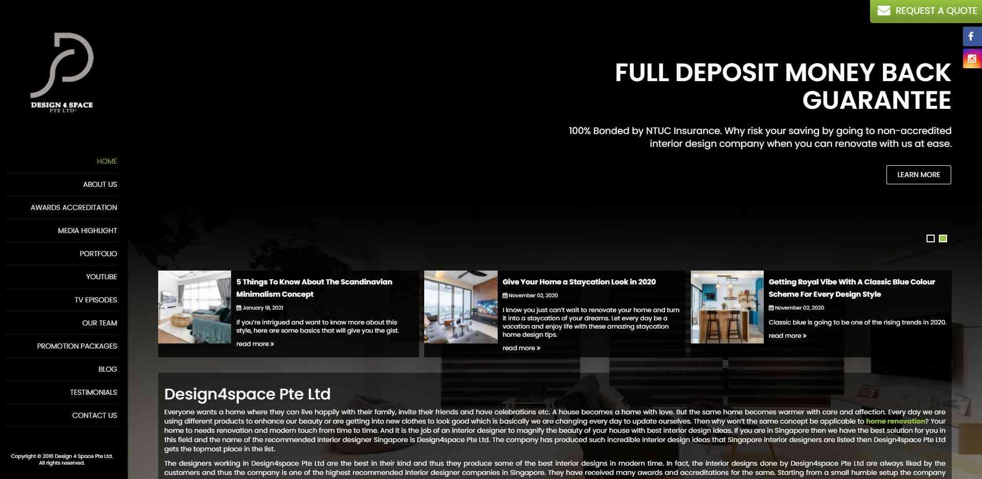 design 4 space Top Interior Design Firms In Singapore