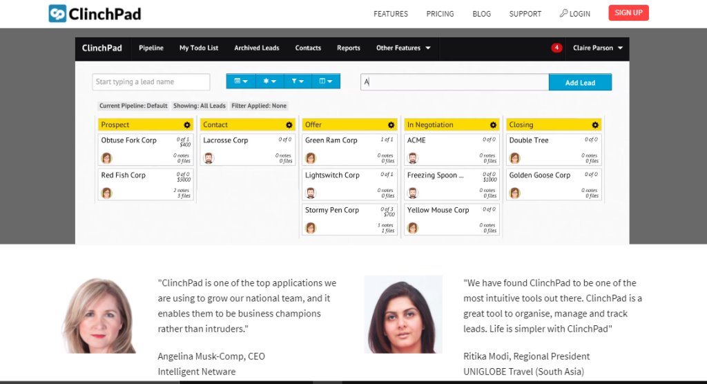 ClinchPAd Best CRM Tools for Singapore Businesses