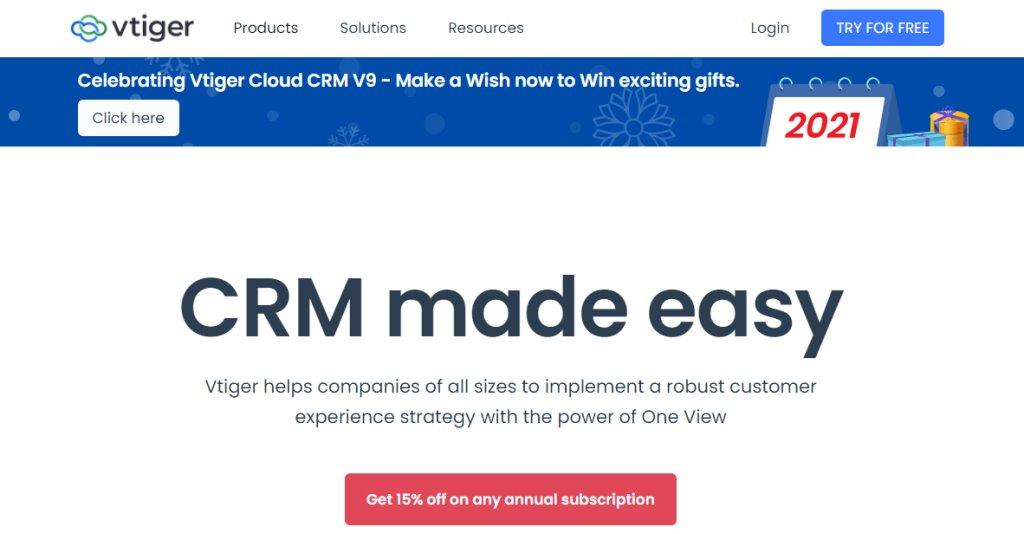 VTiger Best CRM Tools for Singapore Businesses