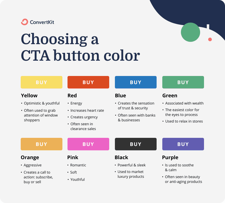 choosing a color for your landing page