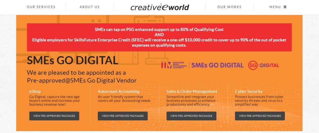 Creaworld Custom Web Design Services