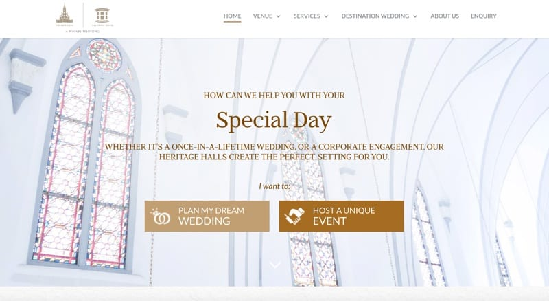 watabe wedding website design
