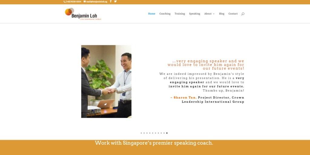 Benjamin Loh Public Speaking Courses in Singapore
