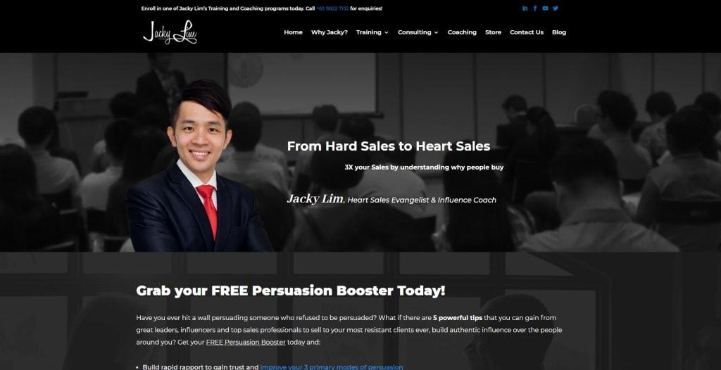 Jacky Lim Public Speaking Courses in Singapore